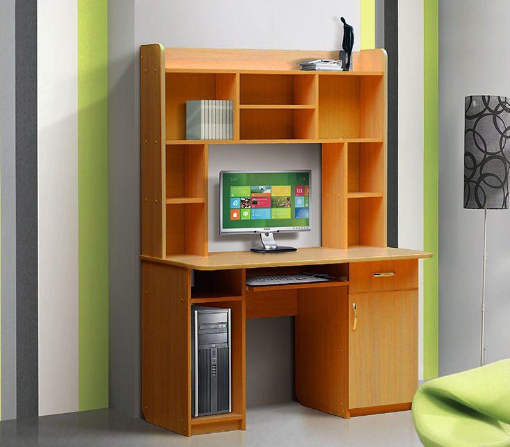 Стол компьютерный с надстройкой - 2 / письменные и компьютер.
