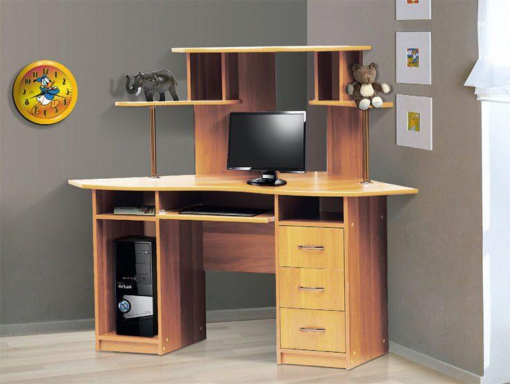 Стол компьютерный угловой -1 / письменные и компьютерные сто.